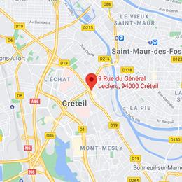 Localiser l'Office de Créteil